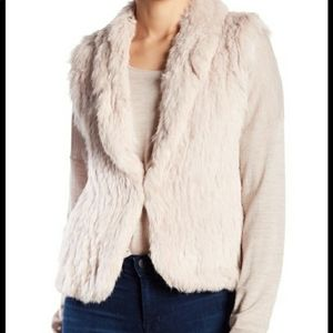 Joie Real Rabbit Fur Vest in Blush